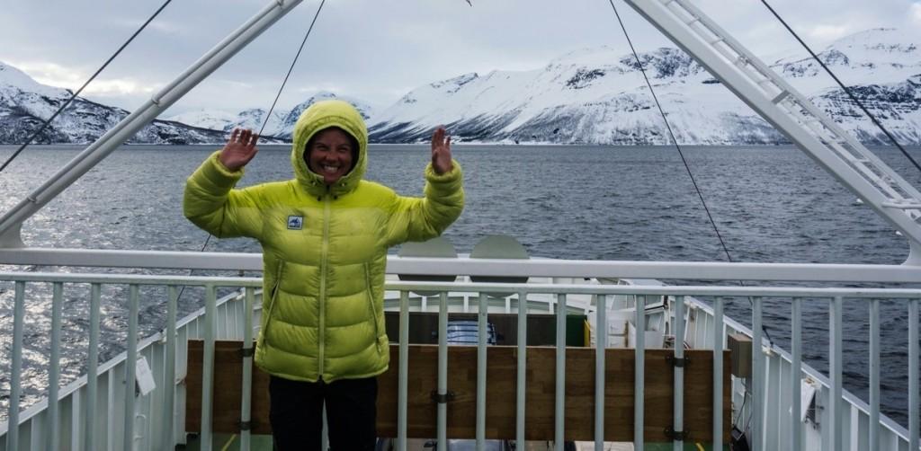 On the boat back to Tromsö, hasta la vista Lyngen!